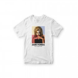 T-shirt Jane Fonda Quadri...